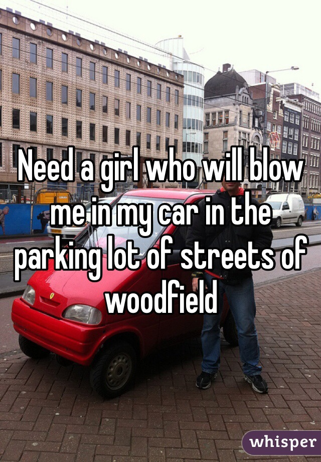 Need a girl who will blow me in my car in the parking lot of streets of woodfield
