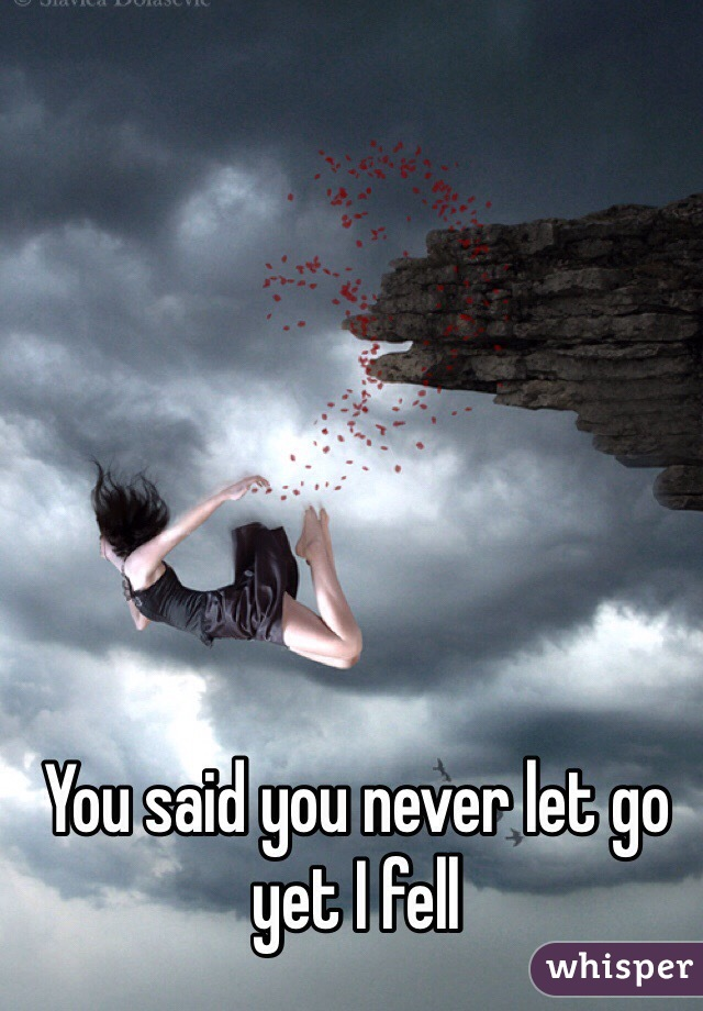 You said you never let go yet I fell