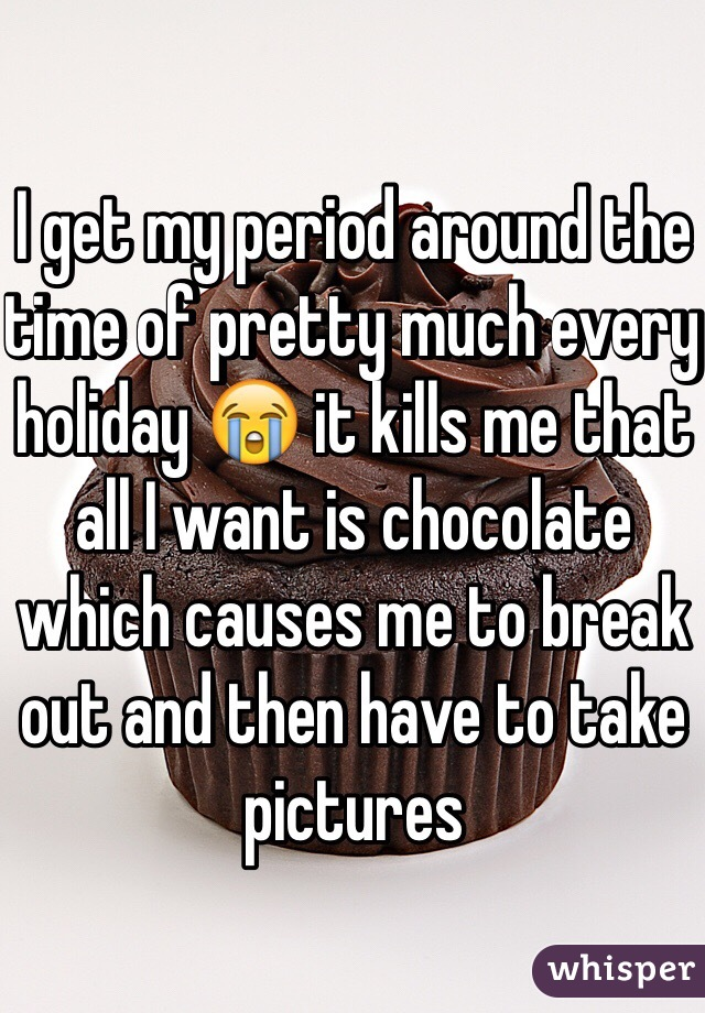 I get my period around the time of pretty much every holiday 😭 it kills me that all I want is chocolate which causes me to break out and then have to take pictures