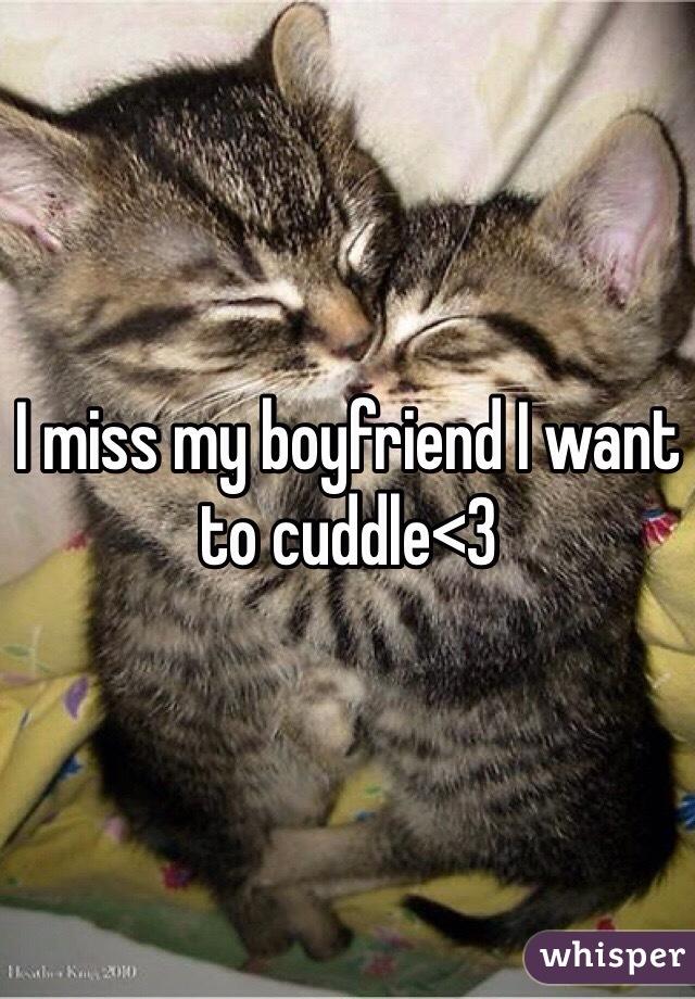I miss my boyfriend I want to cuddle<3