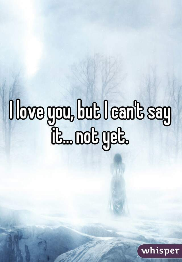 I love you, but I can't say it... not yet.
