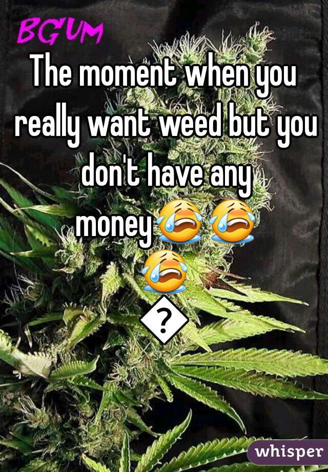 The moment when you really want weed but you don't have any money😭😭😭😭