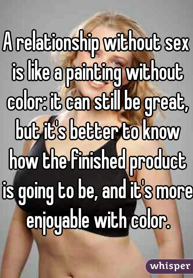 Being in a relationship without sex