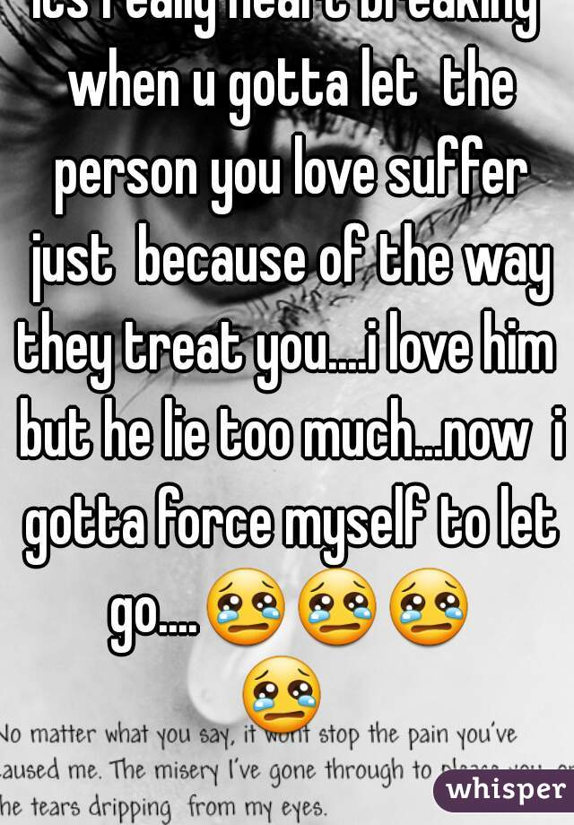 How let go person you really love