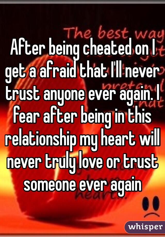 Recovering from being cheated on