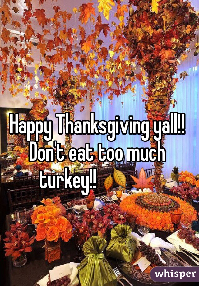 Happy Thanksgiving Yall >> Happy Thanksgiving Yall Don T Eat Too Much Turkey