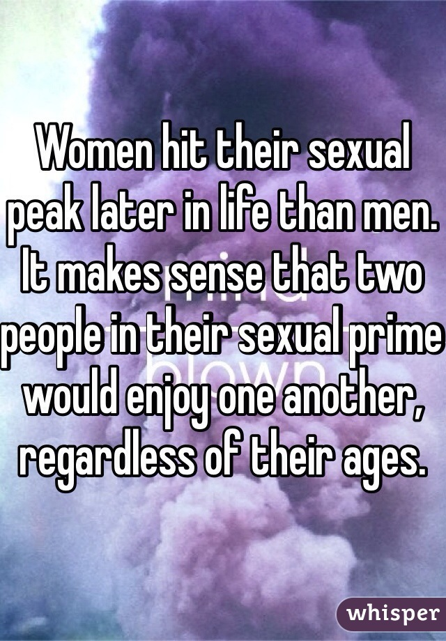 What age do women hit their sexual prime