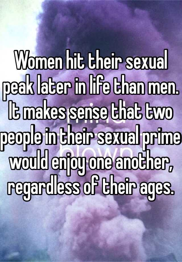 Womens sexual prime age