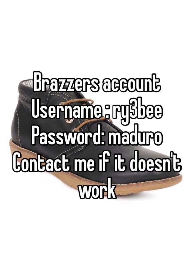 Usernames and passwords for brazzers
