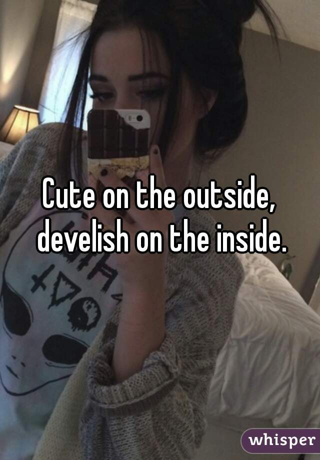 Cute on the outside, develish on the inside.