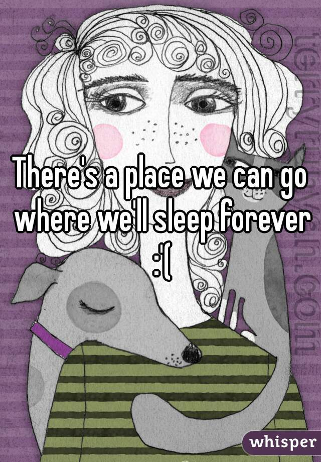 There's a place we can go where we'll sleep forever :'(