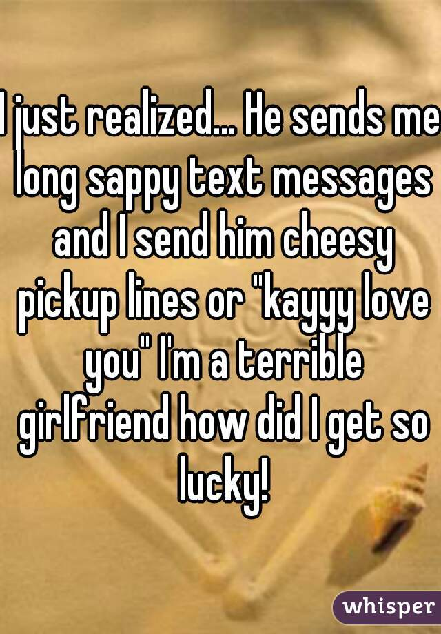 Sappy text messages