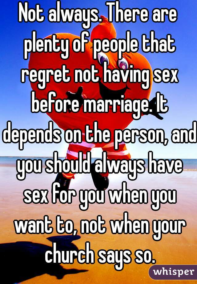 Church says no sex until married