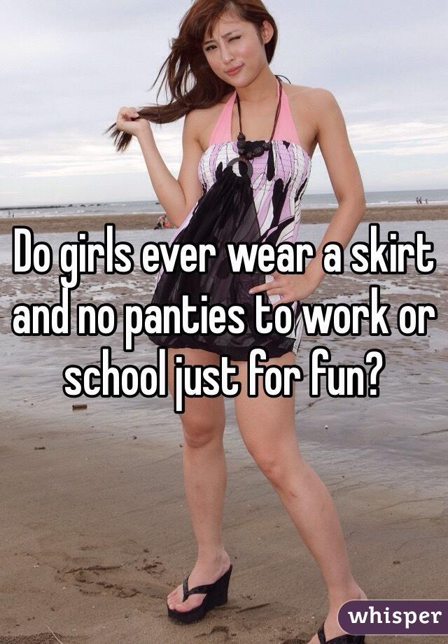 Girls no panties in public