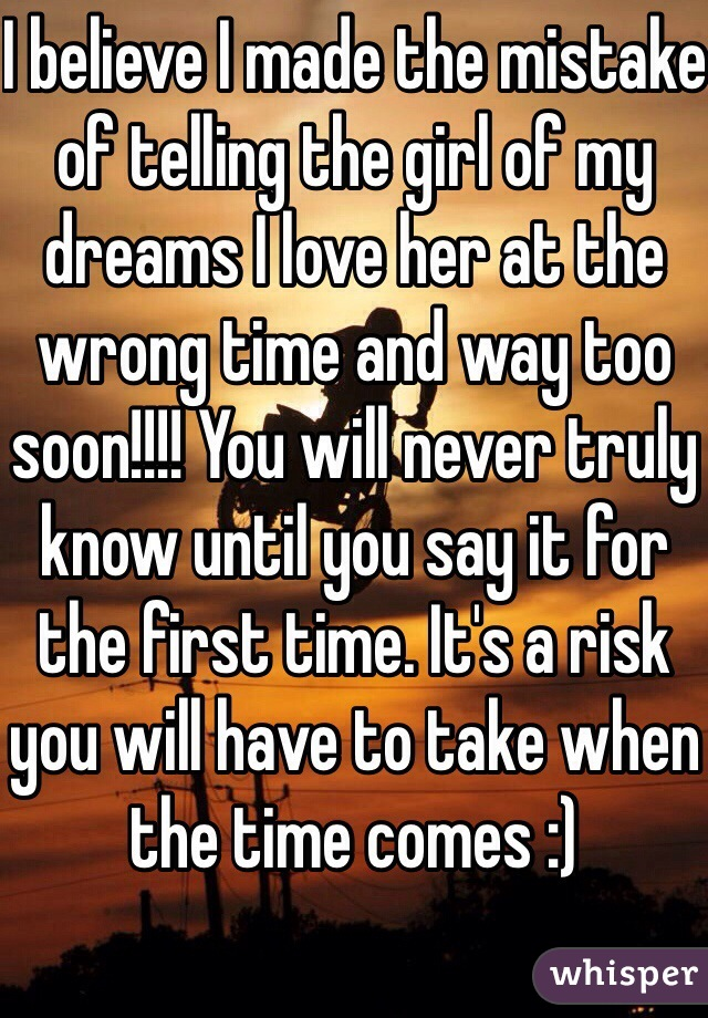 Ways to tell a girl you love her for the first time