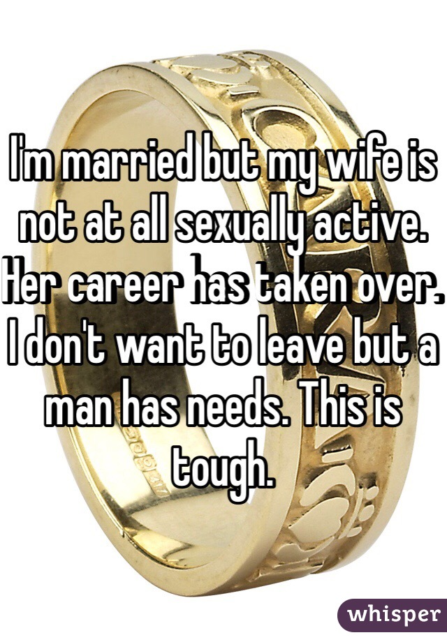 Wife is not sexually active