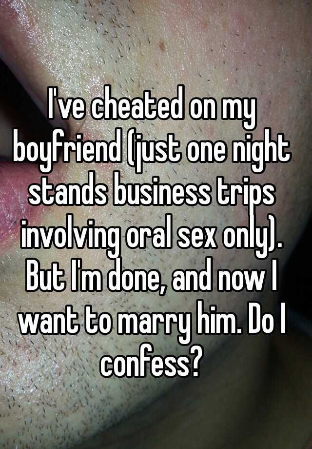 Oral sex one night stands