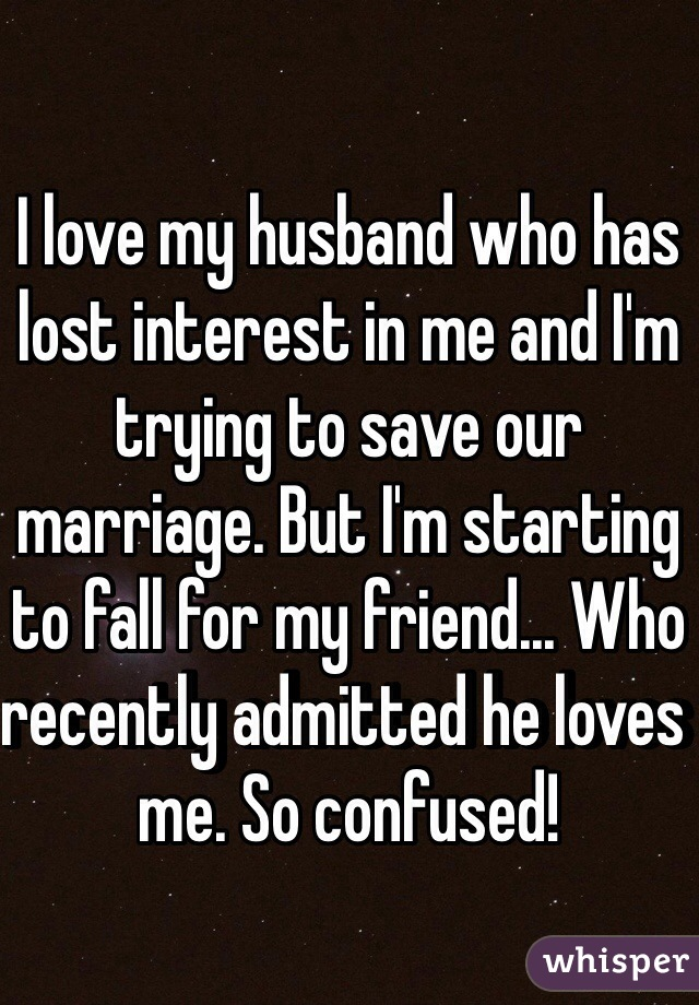my wife has lost interest in me
