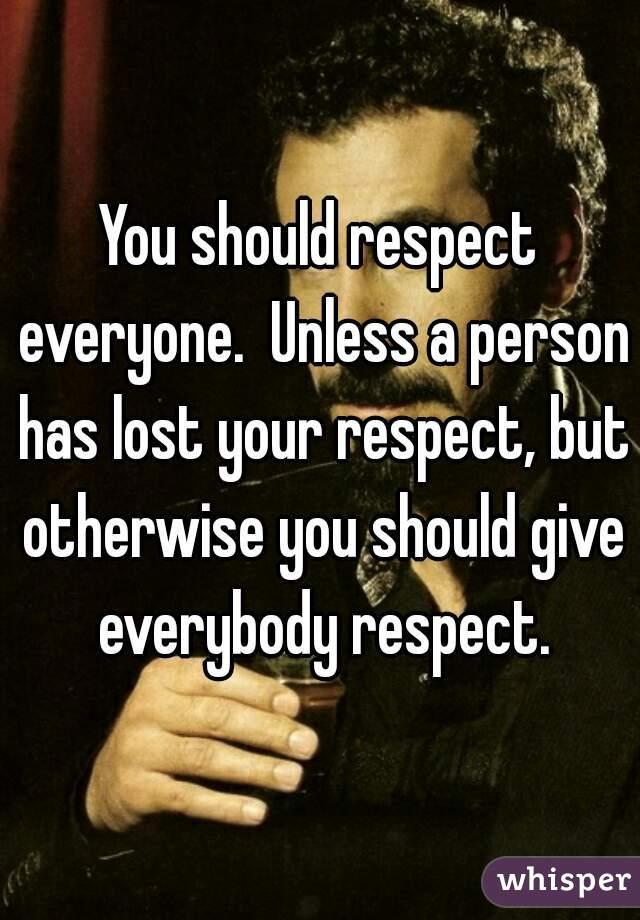 respect everyone