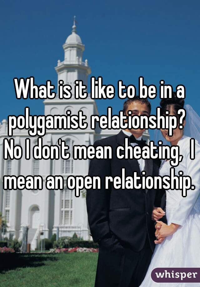 What is it like to be in a polygamist relationship?   No I don't mean cheating,  I mean an open relationship.