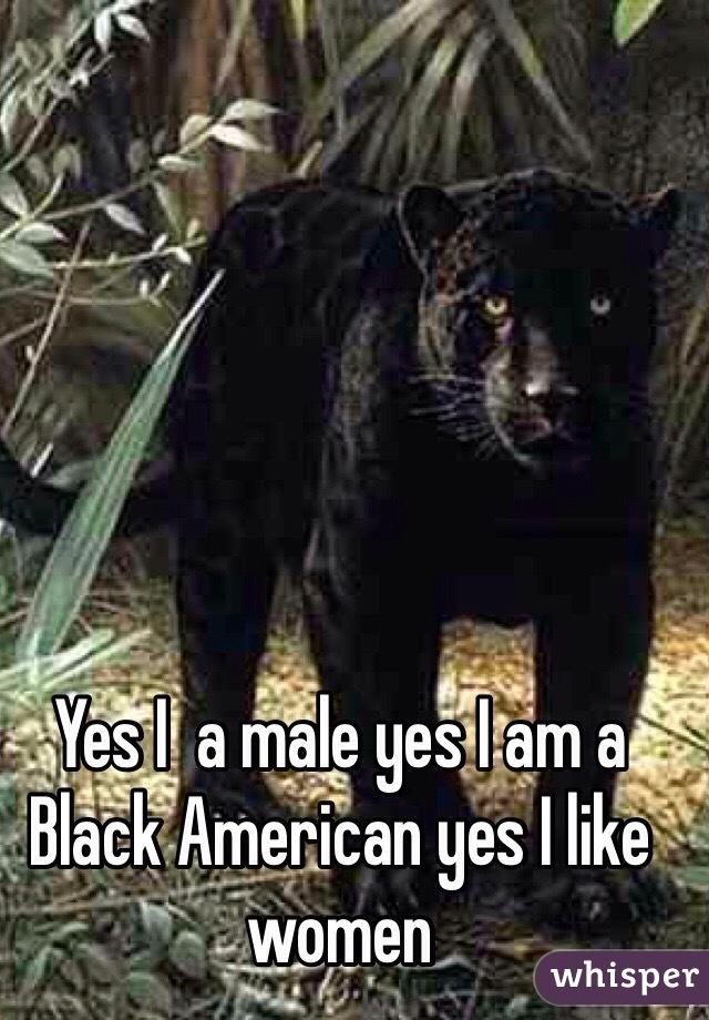 Yes I  a male yes I am a Black American yes I like women