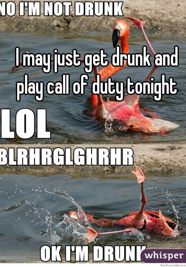 I may just get drunk and play call of duty tonight
