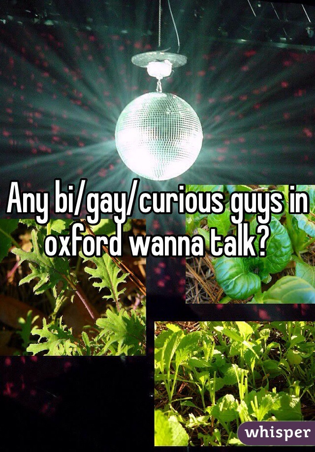 Any bi/gay/curious guys in oxford wanna talk?