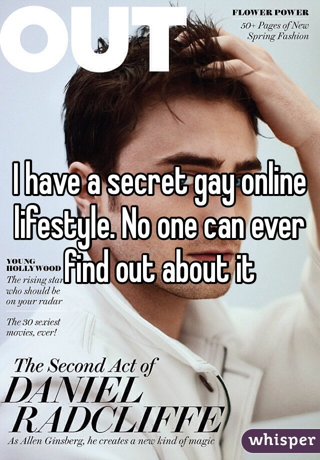 I have a secret gay online lifestyle. No one can ever find out about it