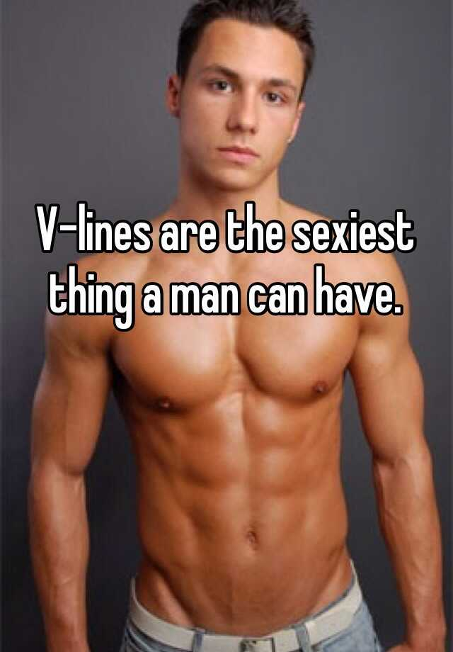 Why do guys have v lines