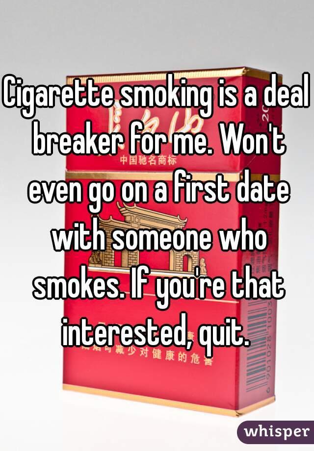Is smoking a deal breaker
