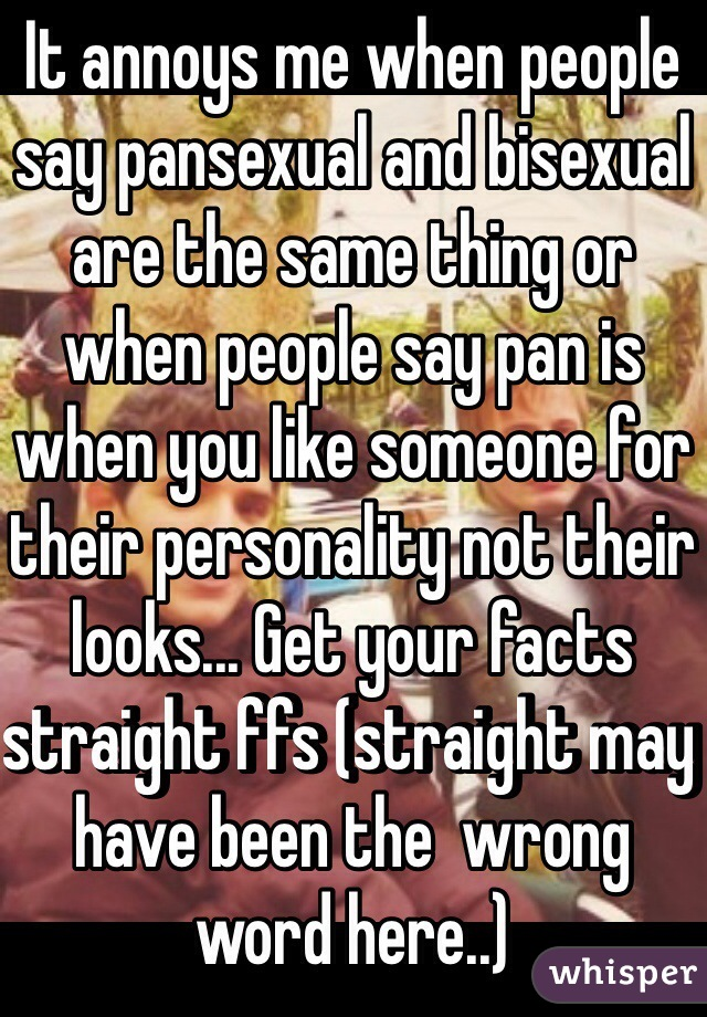 Is bisexual and pansexual the same thing