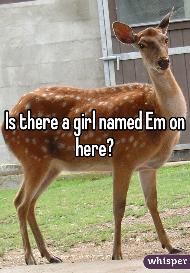Is there a girl named Em on here?