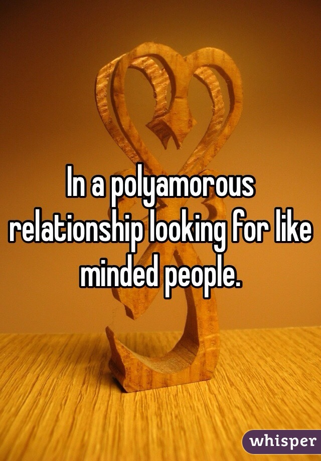 In a polyamorous relationship looking for like minded people.