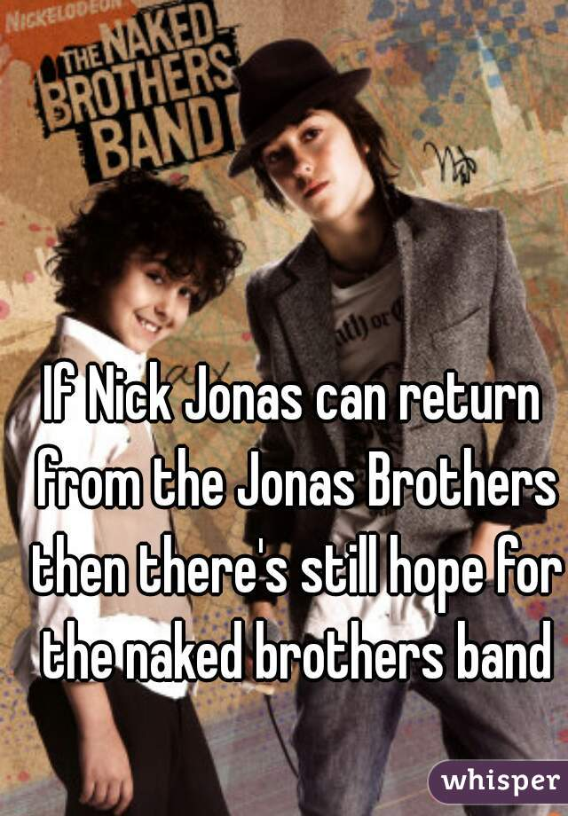 If Nick Jonas can return from the Jonas Brothers then there's still hope for the naked brothers band