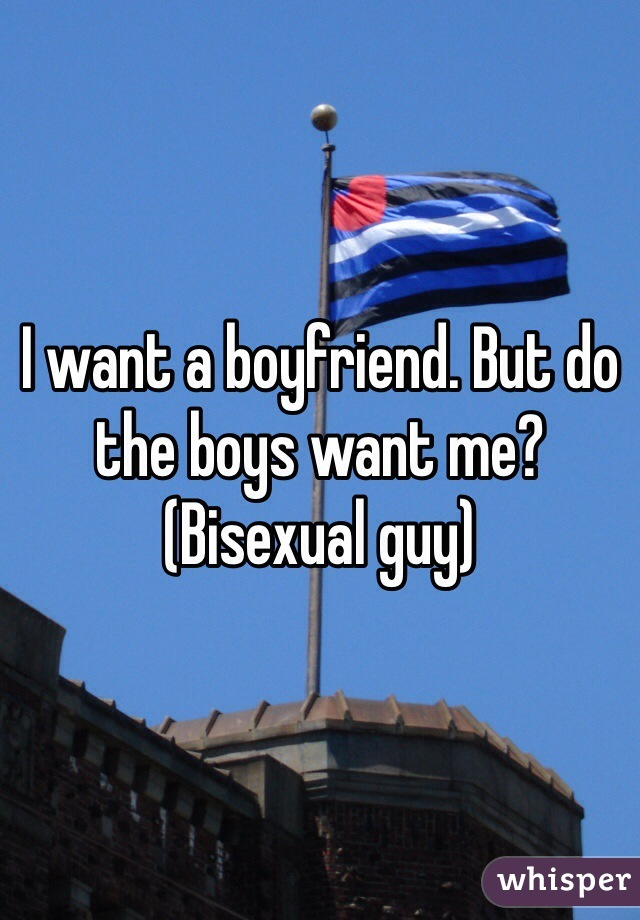 I want a boyfriend. But do the boys want me? (Bisexual guy)