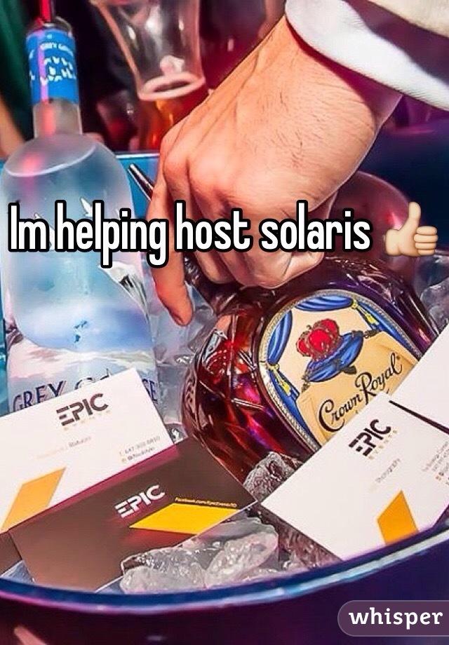 Im helping host solaris 👍
