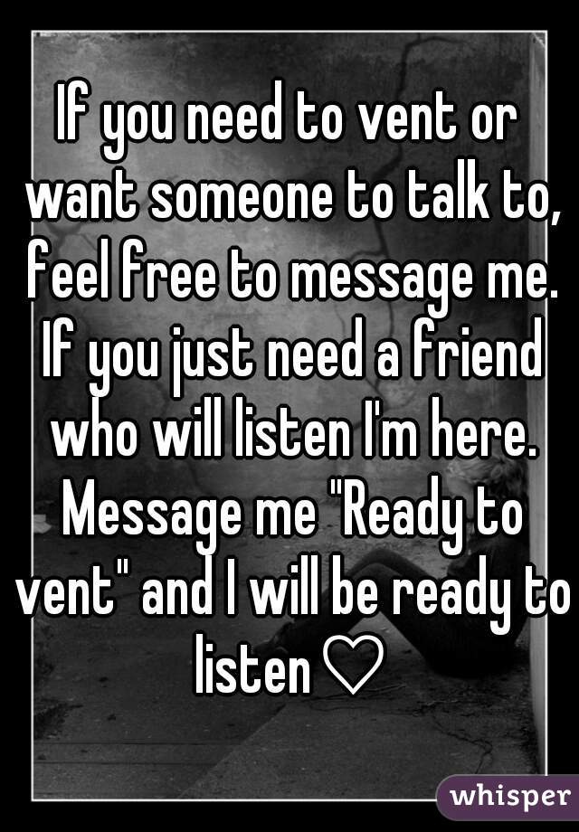 Someone To Talk To For Free