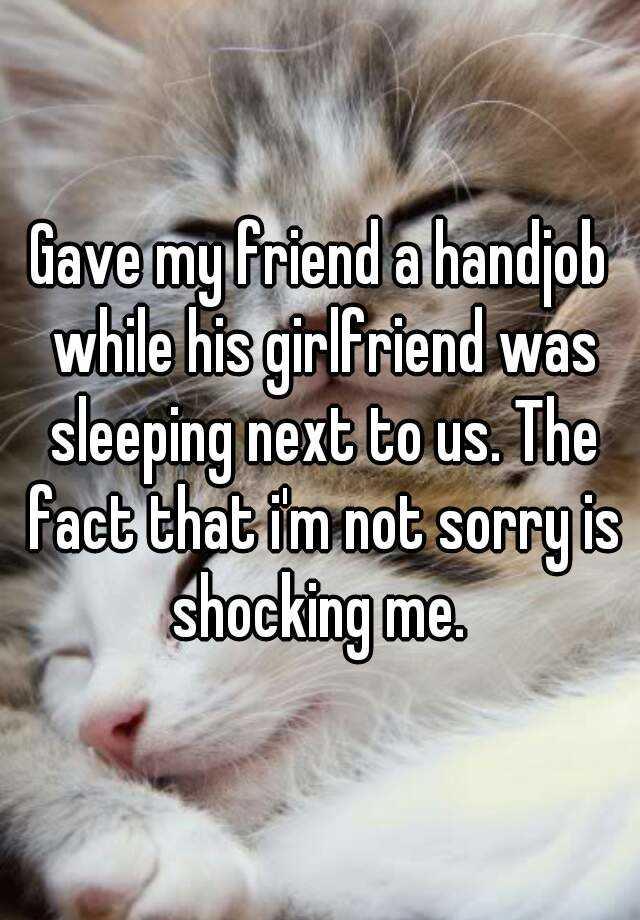Loving girlfriend hand job