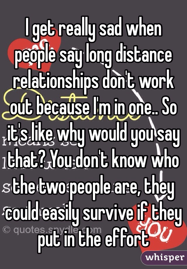 How often do long distance relationships work out