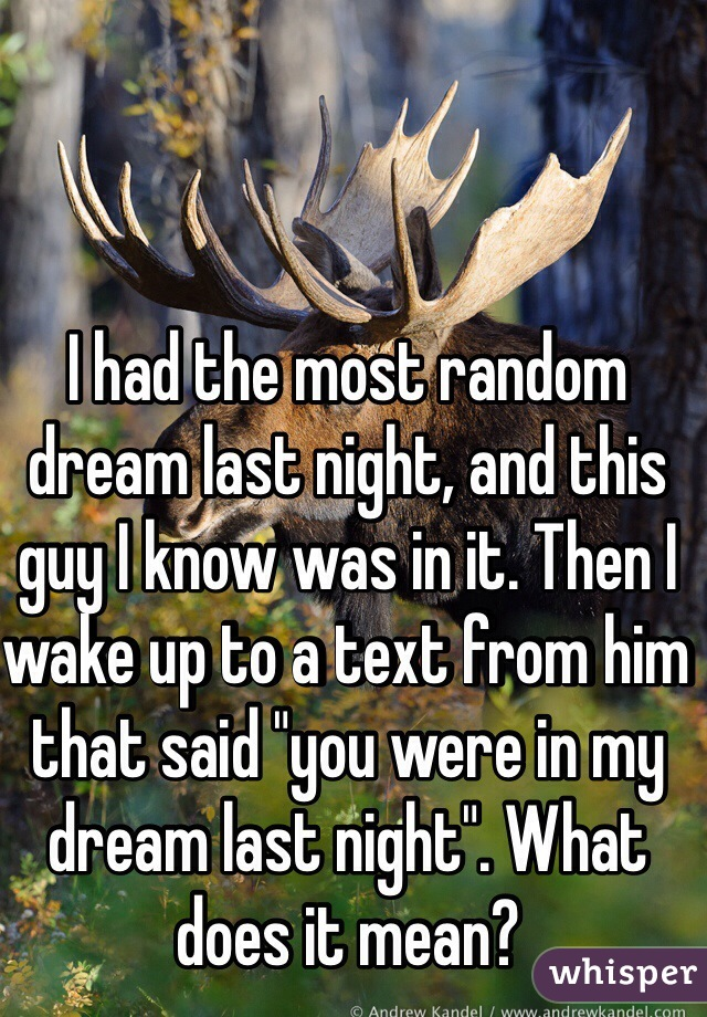 you were in my dream last night text
