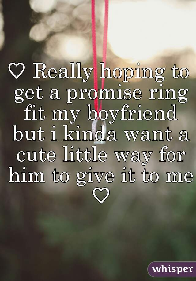 Cute ways to give a promise ring