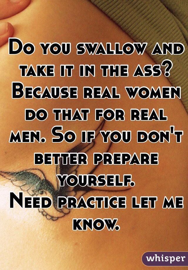 Why do men like women who swallow