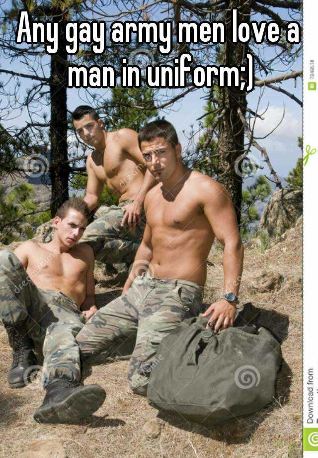 army Gay men uniform military