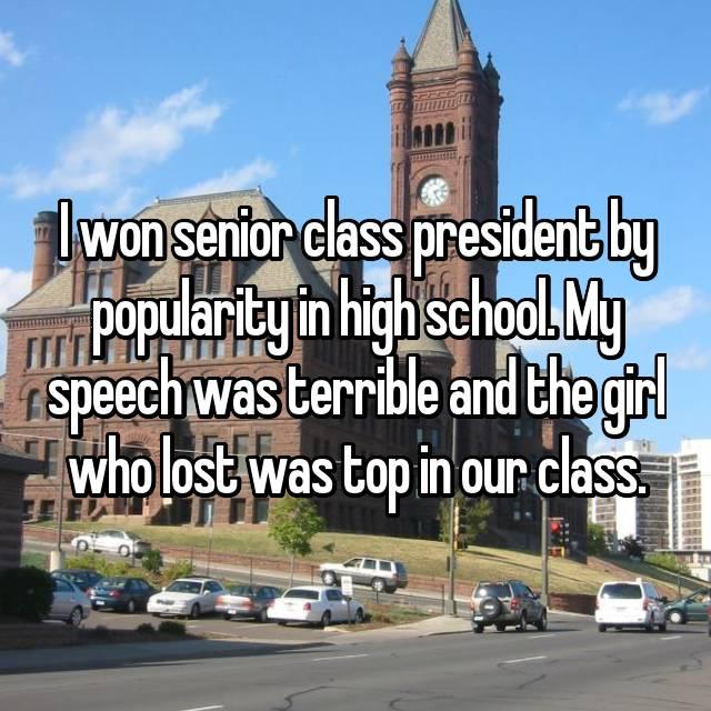 good presidential speeches for class president
