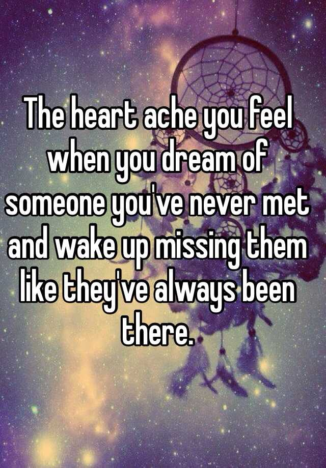 Dreaming about someone you never met