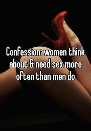 How many times does a woman think about sex