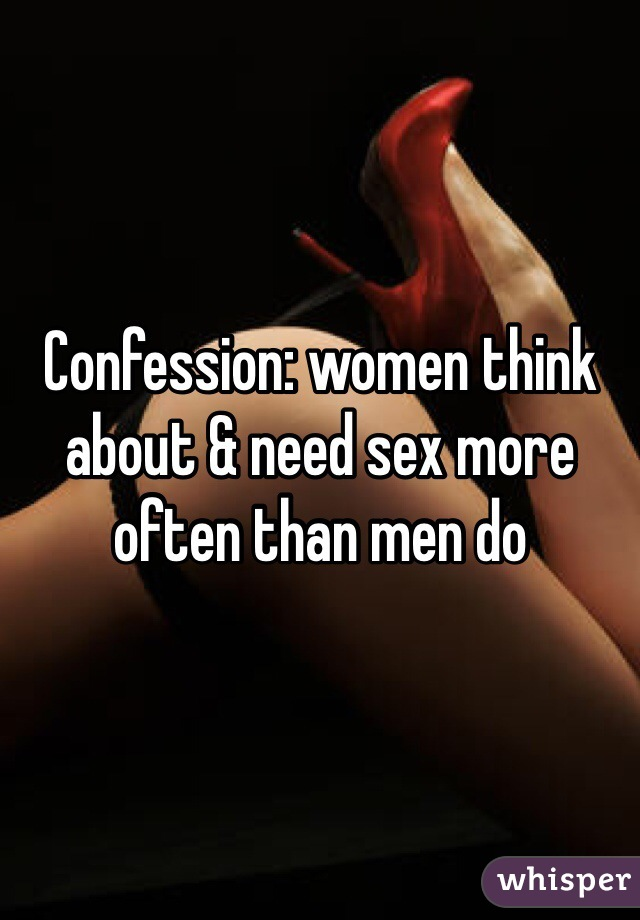 Often men think about sex