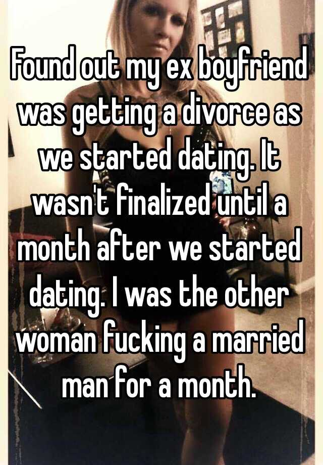 Found out i was dating a married man