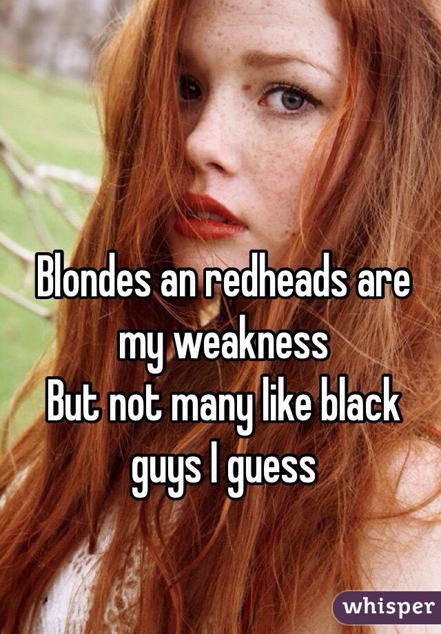 Redheads and black guys