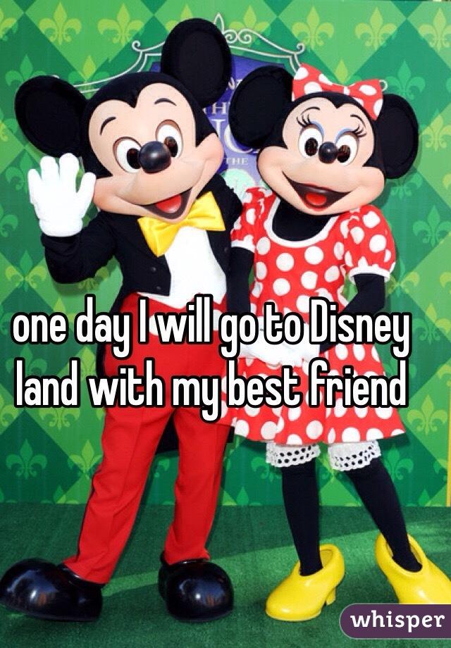 one day I will go to Disney land with my best friend